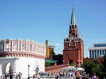 Кутафья и Троицкая башни Московского Кремля