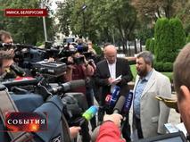 Вице-премьер ДНР Андрей Пургин на встрече в Минске