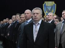 Лидер ЛДПР Владимир Жириновский с товарищами по партии