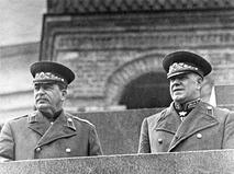 Генеральный секретарь ЦК ВКП(б) Иосиф Сталин и маршал Георгий Жуков