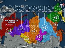 Инфографика: часовые пояса России