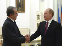 Президент России Владимир Путин и бывший премьер-министра Италии и экс-глава Еврокомиссии Романо Проди