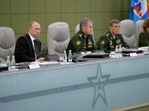 Владимир Путин на совещании, посвящённое приёмке военной продукции
