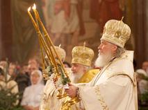 Патриарх Московский и всея Руси Кирилл проводит рождественское богослужение