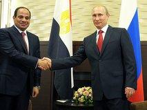 Президент России и Египта Владимир Путин и Абдель Фаттах ас-Сиси
