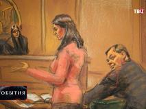 Обвиняемый в шпионаже в зале суда