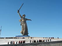 """Скульптура """"Родина-мать зовёт!""""на Мамаевом кургане в Волгограде"""