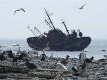Рыболовное судно у берегов Камчатки