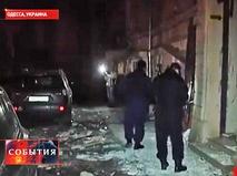 На месте взрыва в Одессе