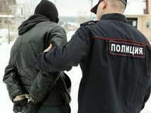 Задержание преступника сотрудником полиции