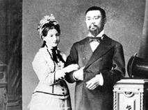 Пётр Бадмаев с супругой