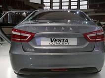 """Презентация автомобиля Lada Vesta concept на XXIV Международной автомобильной выставке """"Мир автомобиля"""" в Санкт-Петербурге"""