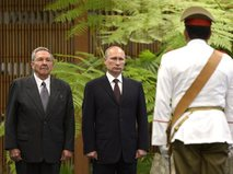 Рауль Кастро и Владимир Путин во время визита российского президента на Кубу