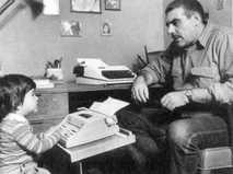 Сергей Довлатов с сыном Колей