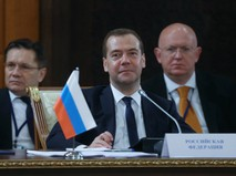 Дмитрий Медведев во время заседания Совета глав правительств Содружества Независимых Государств
