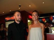 Жанна Фриске с мужем Дмитрием Шепелевым на Московском Международном кинофестивале. 2012 год