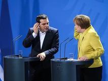 Премьер-министр Греции Алексис Ципрас и канцлер Германии Ангела Меркель
