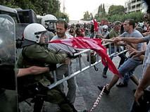 Полиция Греции пресекает уличные беспорядки