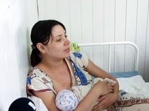 Молодая мама в челябинском роддоме