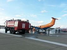 "Аварийная посадка самолёта Embraer-120 авиакомпании ""Руслайн"""