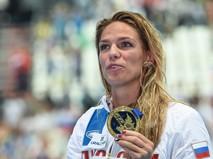 Юлия Ефимова (Россия), завоевавшая золотую медаль на дистанции 100 м брассом среди женщин