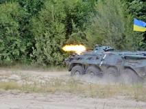 Украинская армия ведет стрельбу