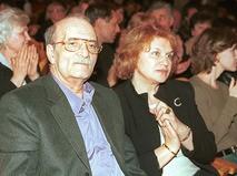 Георгий Данелия с супругой