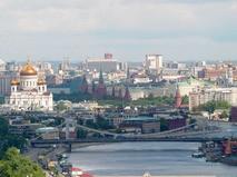 Вид на Московский Кремль и Храм Христа Спасителя