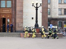 Пожарные в МГУ