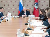 Сергей Собянин на заседании правительства Москвы
