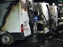 Сгоревшие машины