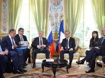 Встреча Владимира Путина с президентом Франции Франсуа Олландом