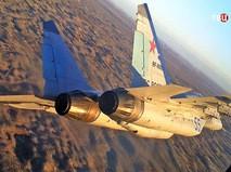 Истребитель Су-27 авиационной группировки ВКС России