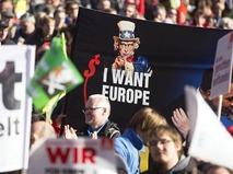 Протест против торгового соглашения США и ЕС