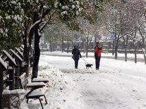 Снегопад в Польше