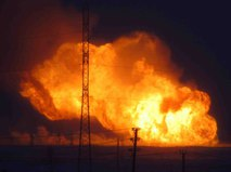 Порыв газопровода в ЯНАО