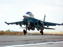Истребитель Су-34 авиационной группировки ВКС России в Сирии