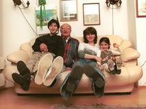 Михаил Козаков с бывшей женой Анной, сыном Мишей и дочкой Зоей