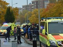Автомобили скорой помощи на месте происшествия в Швеции