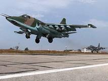 Истребители Су-25 авиационной группировки ВКС России