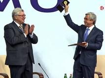 Президент Армении Серж Саргсян и академик РАН, ректор МГИМО Анатолий Торкунов
