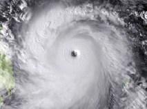 Снимок урагана из комоса