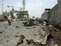 Последствия взрыва в Багдаде