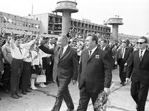 Алексей Косыгин и Леонид Брежнев во время официального дружественного визита в Венгрию