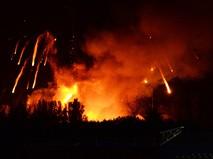 Пожар на складе боеприпасов в Луганской области