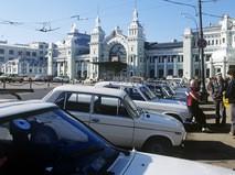 Здание Белорусского вокзала на площади Тверской Заставы
