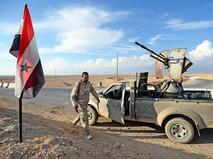 """Бойцы движения """"Хезболлах"""" на передовых позициях Сирийской Арабской Армии"""