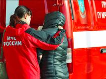Сотрудники МЧС РФ и родственники погибших в авиакатастрофе A321 в Египте