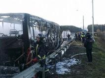 Пожар в пассажирском автобусе в Подмосковье