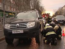 Водитель протащил сбитого пешехода под днищем